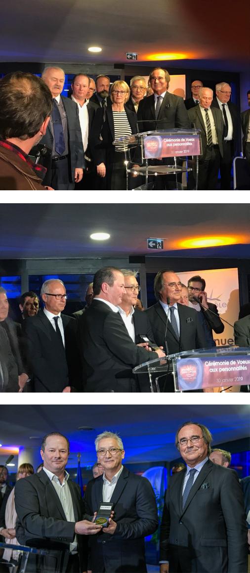 Roger VAROBIEFF honoré par l´agglomération pour son influence économique sur le territoire Sète Agglopôle Méditérannée